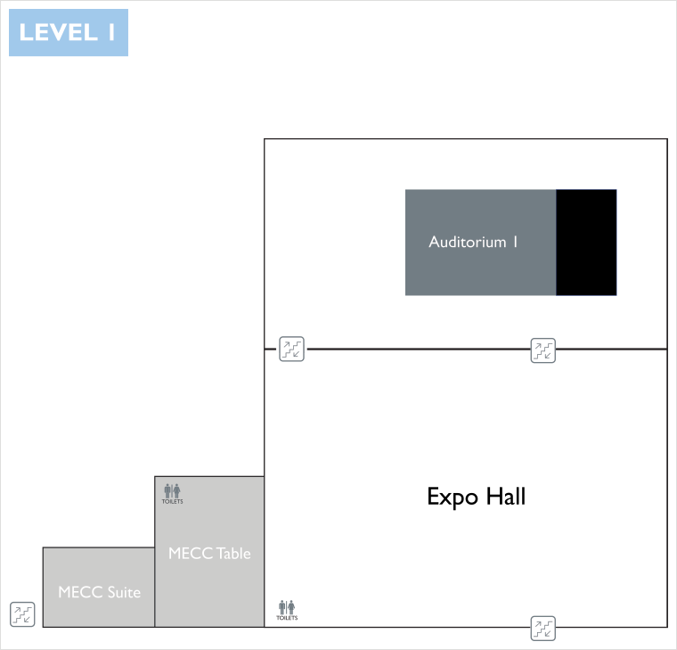 Congress Centre Floor Plan - Level 1