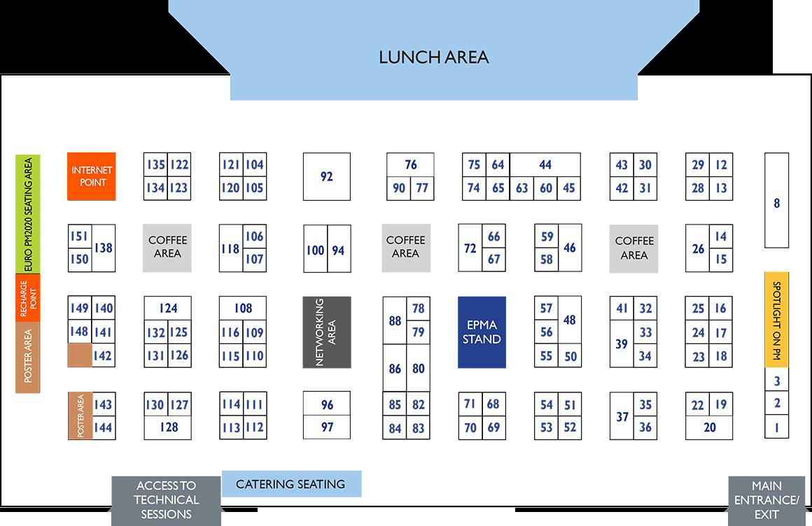 Euro PM2019 Congress & Exhibition - Interactive Exhibition Floor Plan